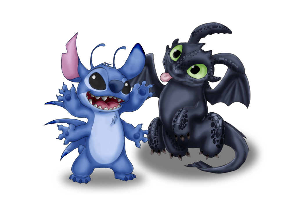 Cute Toothless Desktop Wallpaper Stitch And Toothless By Labradorpup2001 Fur Affinity