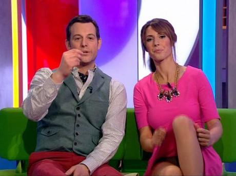Bbc One Show Host Alex Jones Flashes Underwear Live On Air