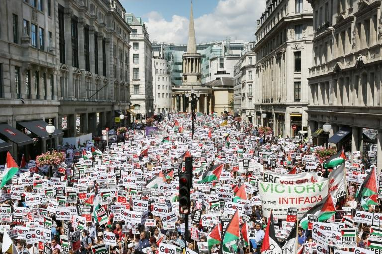 F1 News Bbc Gaza Protests: Thousands Attend Pro-palestinian Demo In London