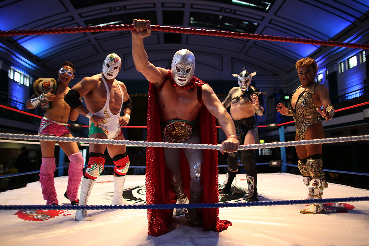 Lucha Libre Mexico Lucha Libre Flamboyant Masked Mexican Wrestlers Perform In London