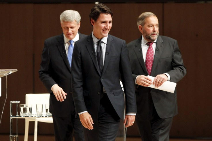 Canada Political Polls Canadian Election Liberal Leader Justin Trudeau Leads Polls