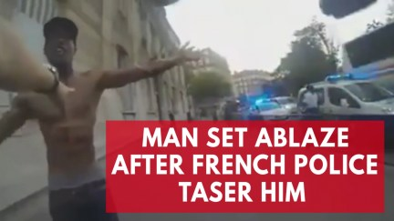 Image result for WATCH: COPS TASER AND TEAR GAS MAN SIMULTANEOUSLY—CAUSING HIM TO BURST INTO FLAMES