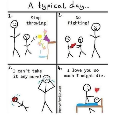 A Typical Day As A Parent - JustPost Virtually entertaining