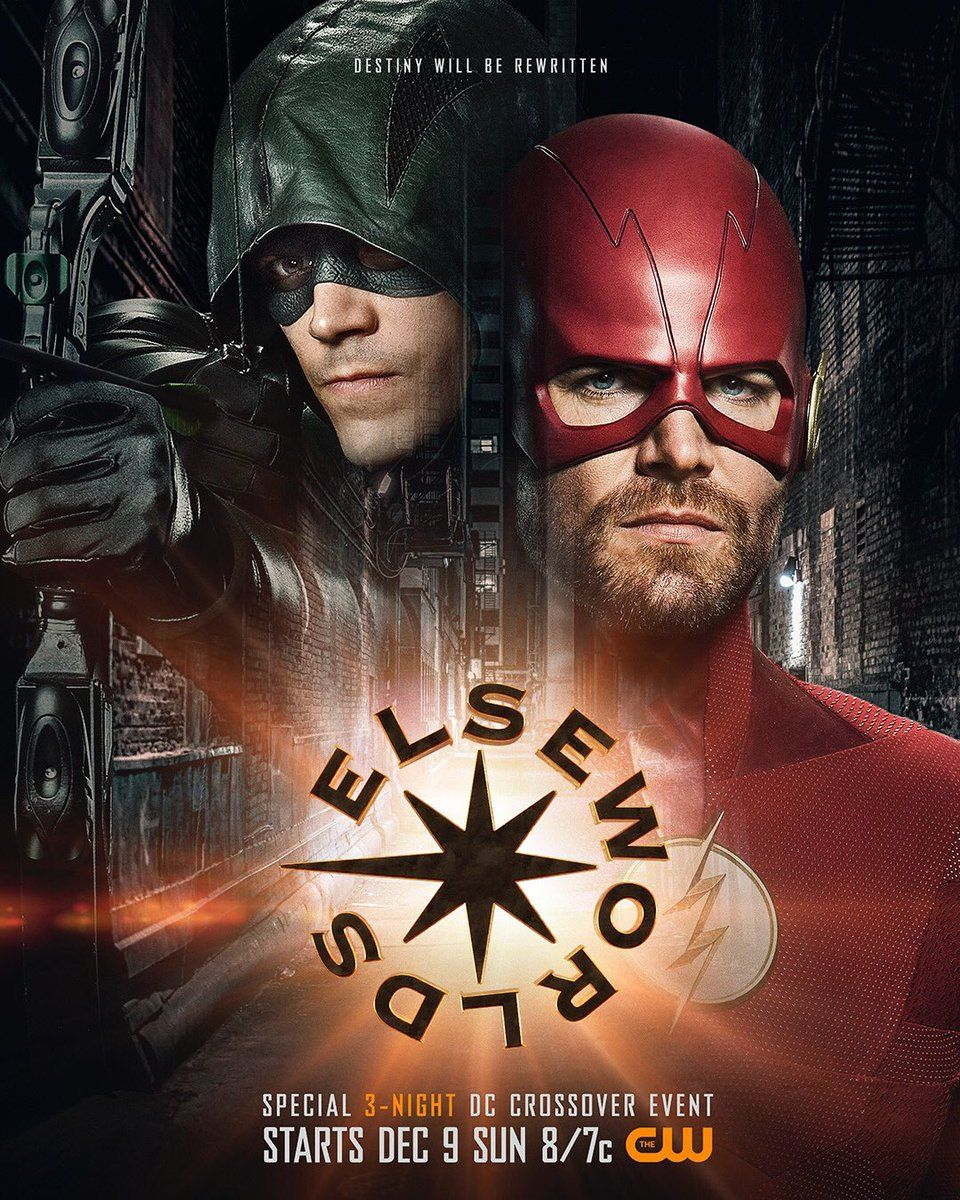 3 Flash Elseworlds Crossover Poster Transforms Green Arrow Into The Flash