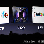 Pricing plans for iLife, iWork, and Mac OS X Leopard.