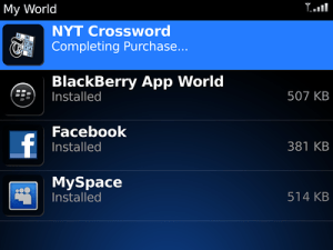 The BlackBerry App Store