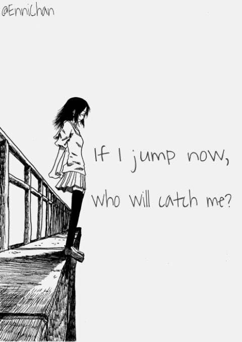 A Girl Sitting Alone Wallpapers Nothing Left But The Darkness If I Jump Now Will You