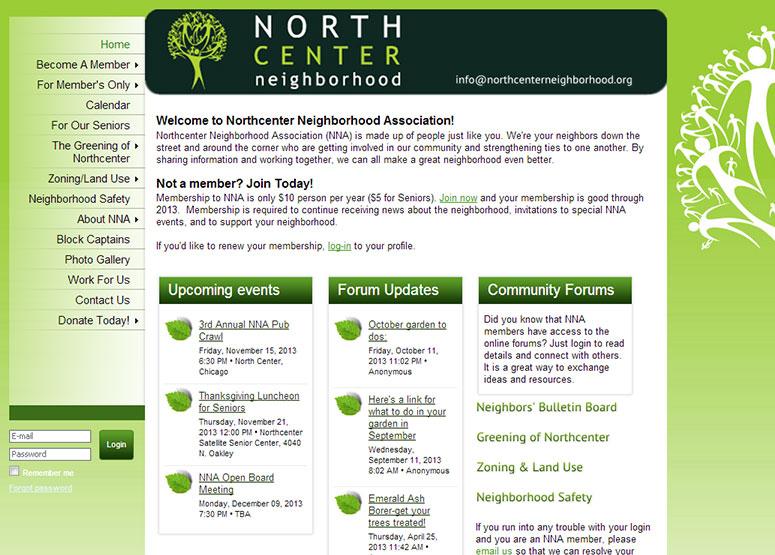 Association Management Software Website Examples - neighborhood website templates