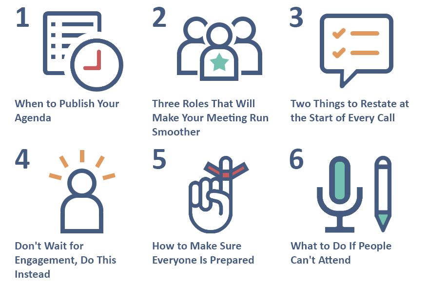 6 Steps to Run a Productive Virtual Meeting with Templates and - making agendas