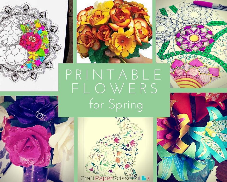 Printable Flowers for Spring 11 Free Printables for Flowers