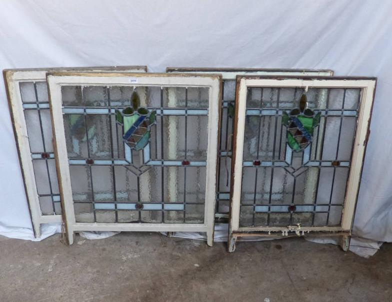 Taylors Auctions  4 STAINED GLASS WINDOWS  Online Auction Catalogue