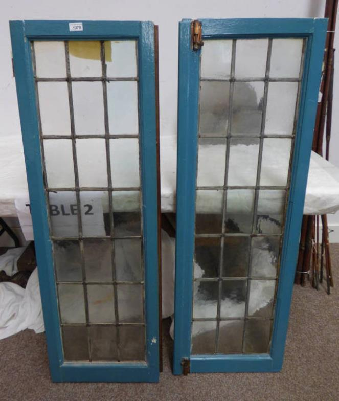 Taylors Auctions  PAIR OF LEADED GLASS WINDOWS  Online Auction