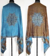 Aqua/Teal Pashmina Shawl/Wrap Free Shipping on Storenvy