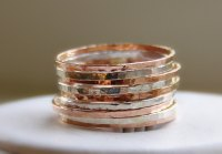 Sterling Silver & Rose Gold Stackable Rings  Stackable ...