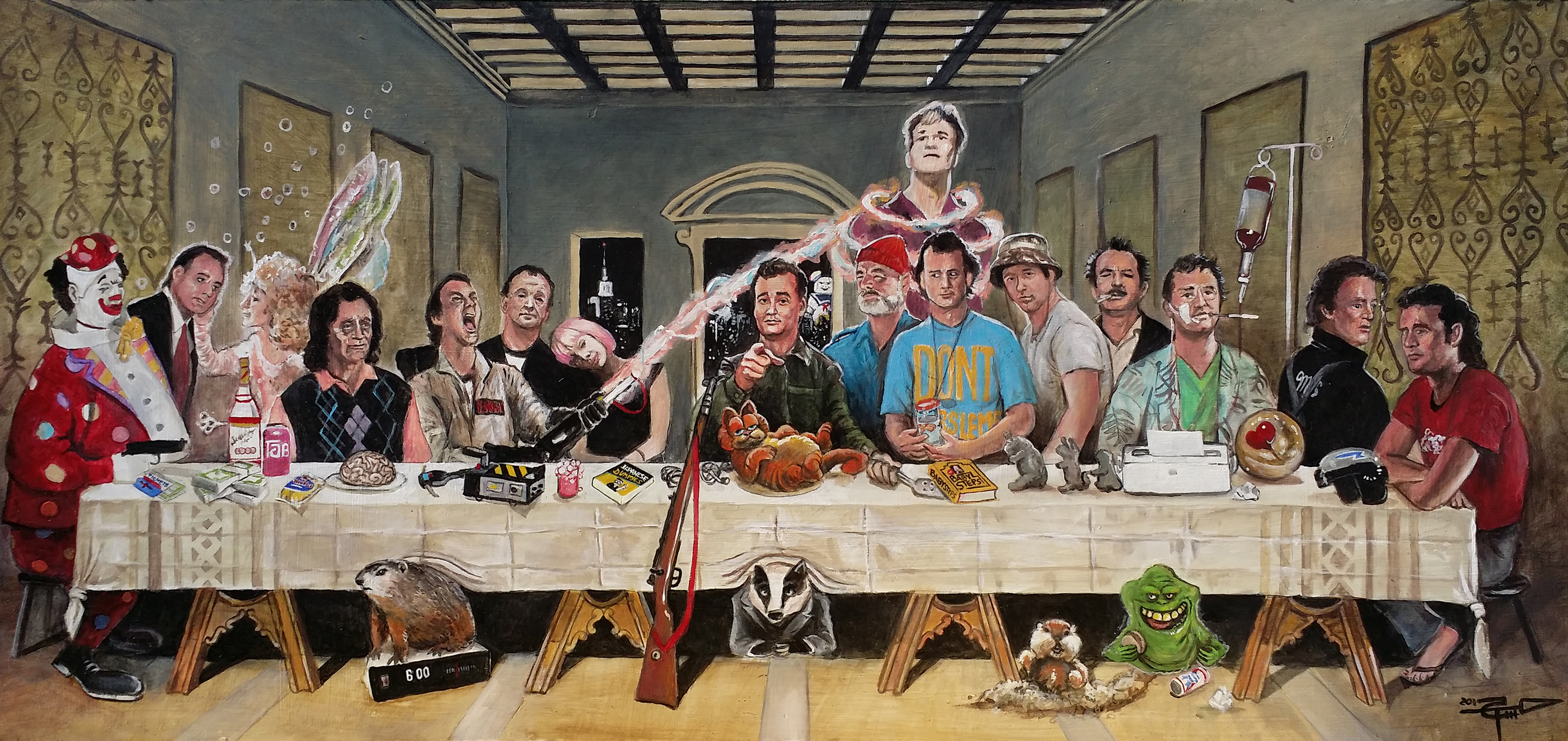 Store Banne Ultima Bill 39s Last Supper Tom Carlton Art Online Store