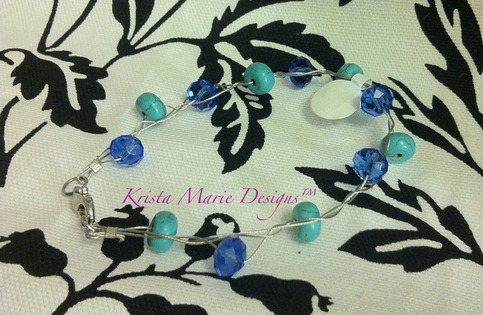 Braided Swarovski Crystal Turquoise Style Beading On