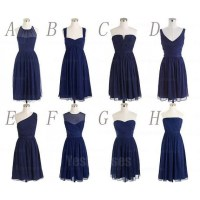 Navy bridesmaid dresses, cheap bridesmaid dresses, chiffon ...