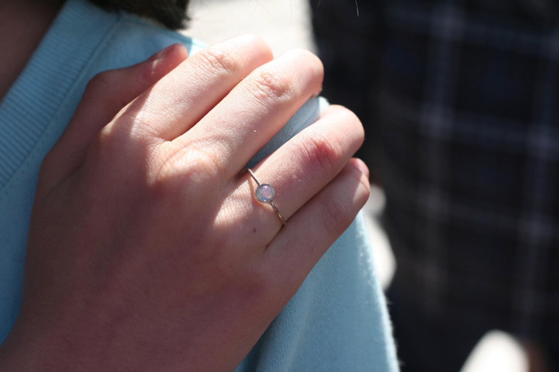 rainbow moonstone ring in 14k white gold moonstone engagement ring anniver labradorite wedding ring Il fullxfull q4ql small