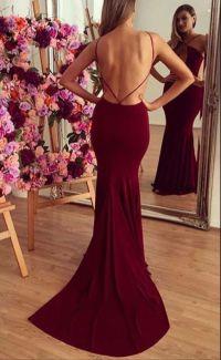 Formal Dress | Burgundy prom dress,sexy mermaid backless ...