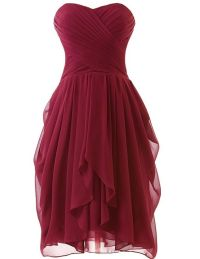 Cute Sweetheart Red wine short prom dress, cheap mini ...