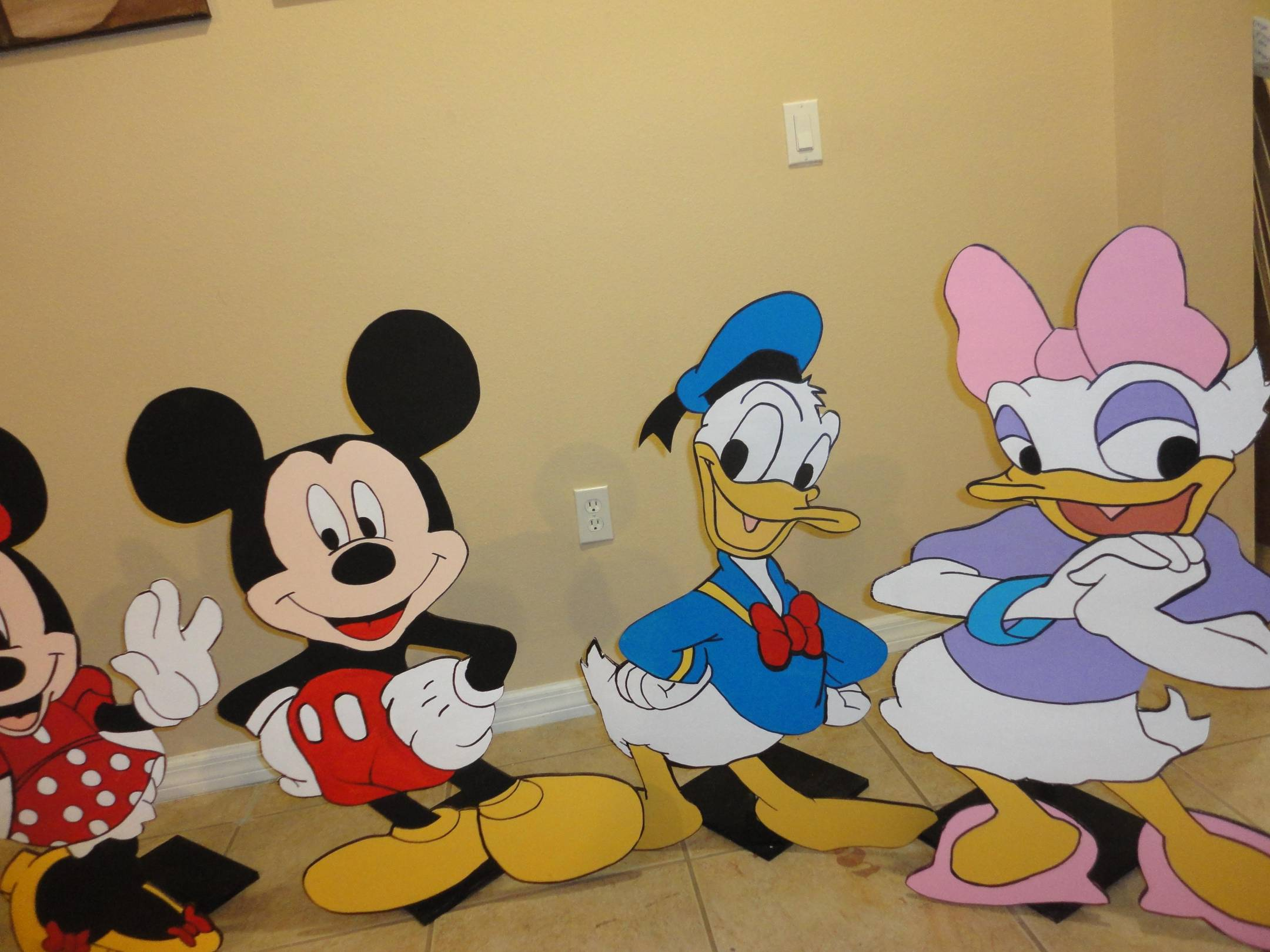 Beautiful Mickey Mouse Clubhouse Birthday Decoration Photo Props 3 ...