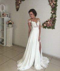 Formal Dress | Elegant white prom dress,A-line chiffon ...