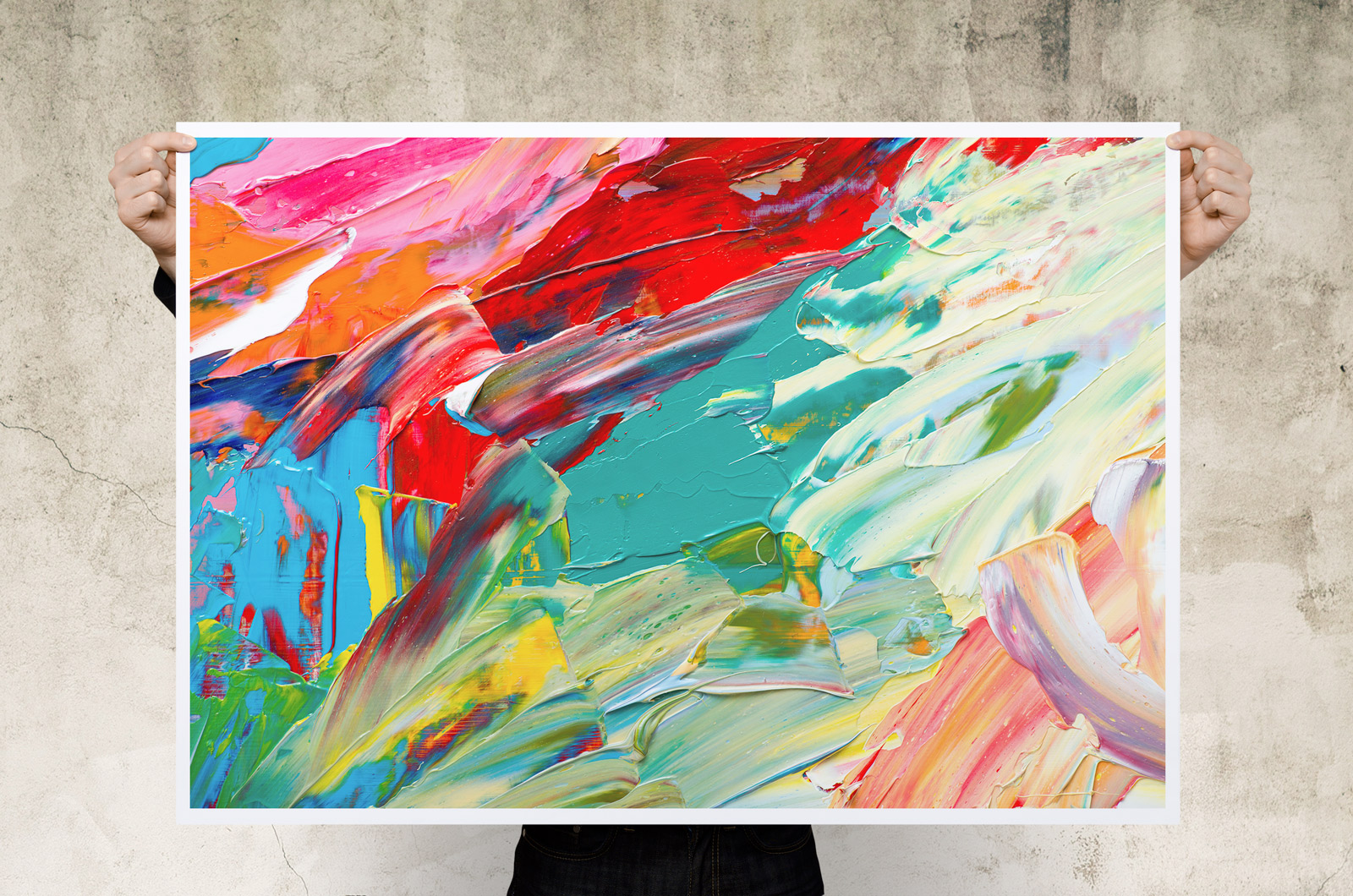 Abstract Art Prints On Canvas Abstract Paint Canvas Art Print Poster
