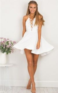 White Homecoming Dress,Short Party Dress,Formal Dress,Cute ...