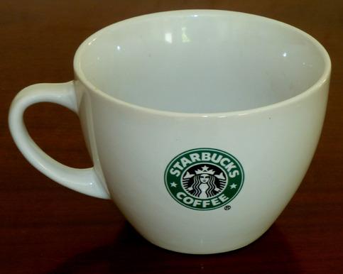 Starbucks Siren Logo Large White Soup Bowl Coffee Mug on
