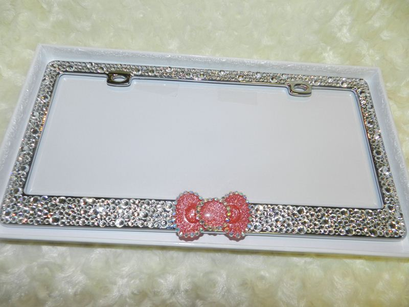 Comfortable Twilight Swarovski Crystal Bling License Plate Frame ...