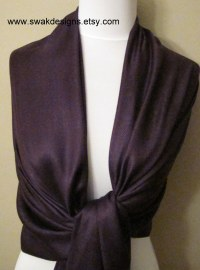 Dark Purple Pashmina Scarf Bridal Shawl Fashion Shawl ...