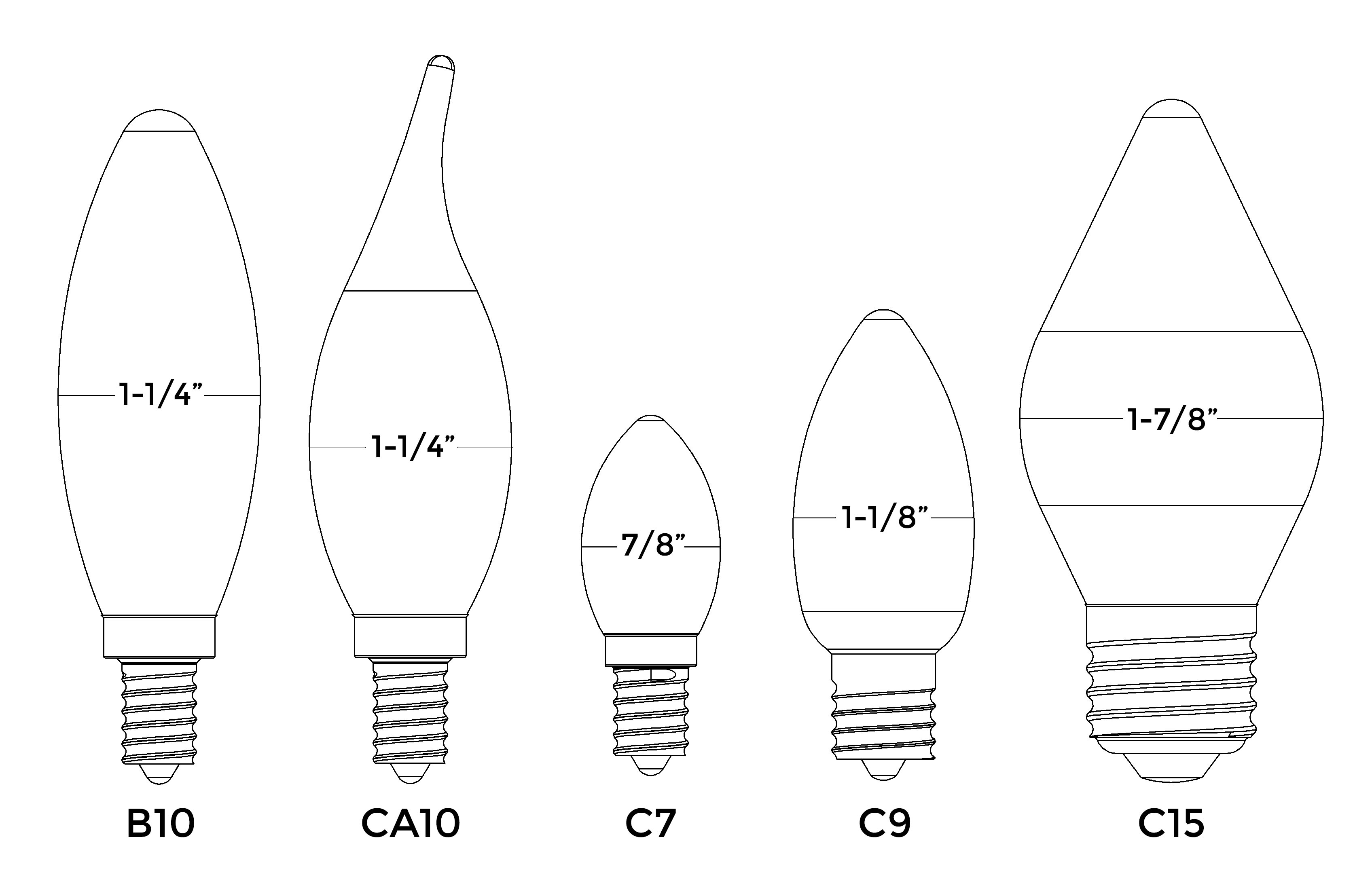 Ceiling Fan Size For Garage Home Lighting 101 A Guide To Understanding Light Bulb Shapes