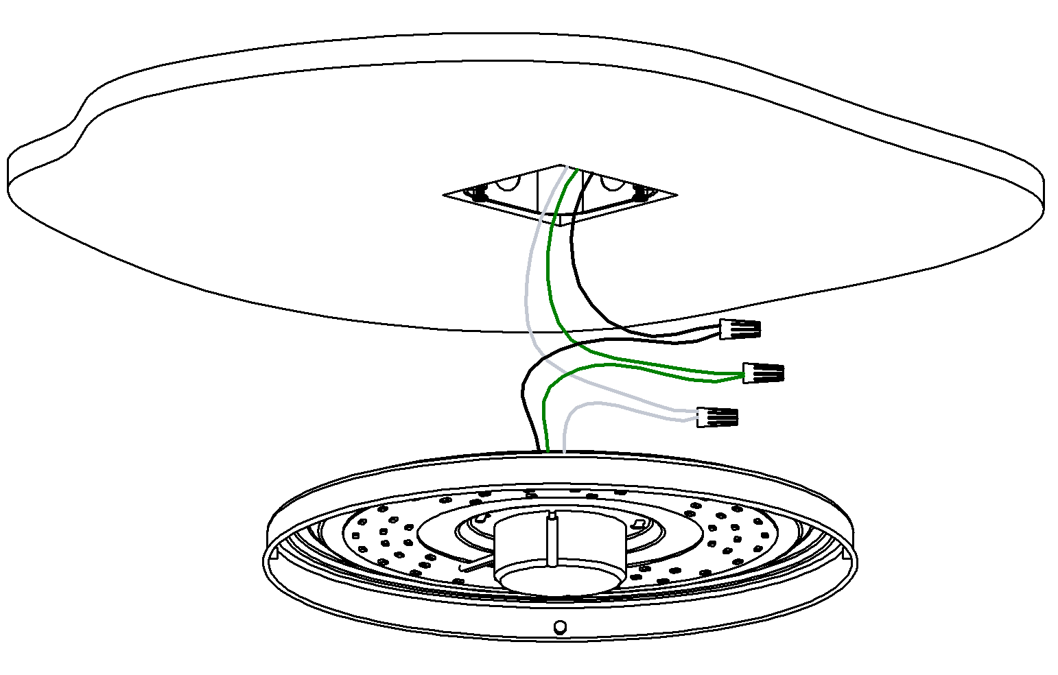 ceiling lamp wiring instructions