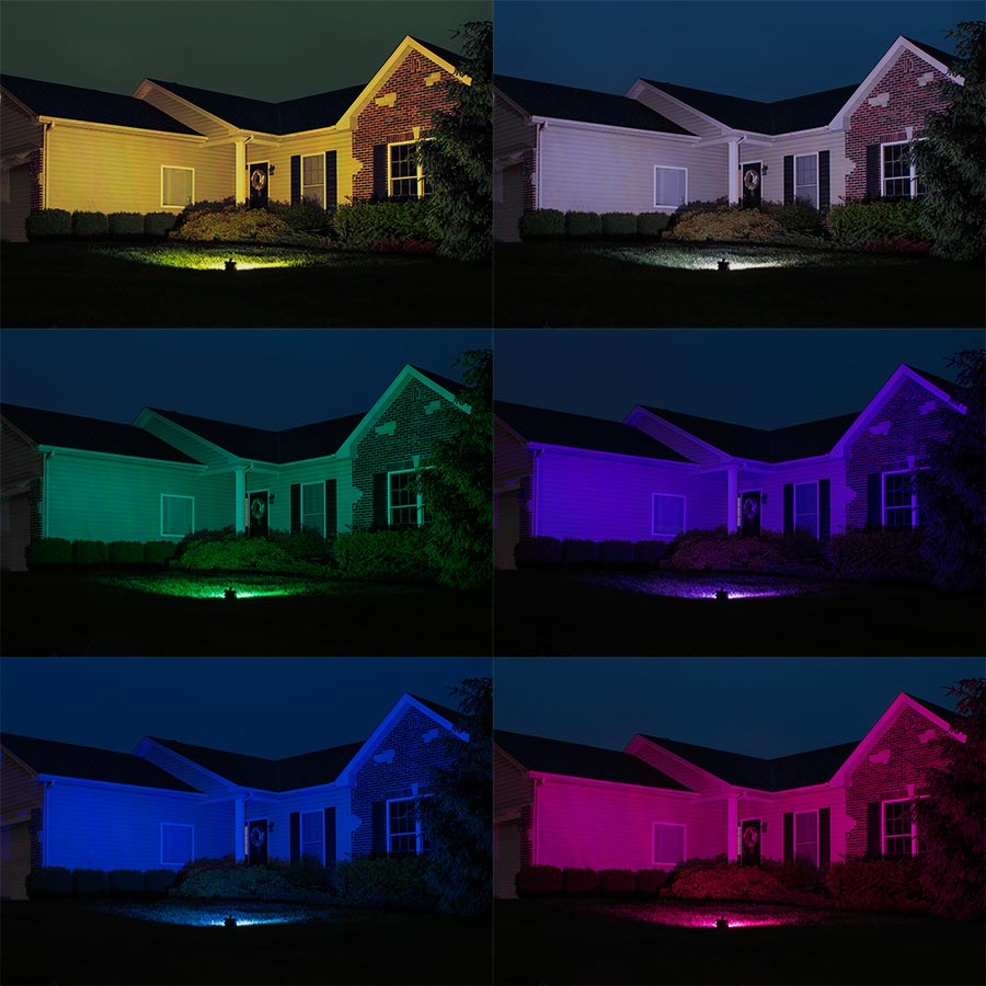 Lighting Rgb 30w Color Changing Wi Fi Led Flood Light Rgb White Smartphone Compatible Or W Optional Remote