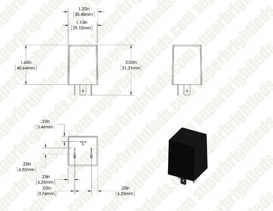 electronic flasher relay 2 pin