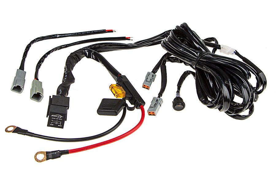 LED Light Wiring Harness with Switch and Relay - Dual Output - ATP