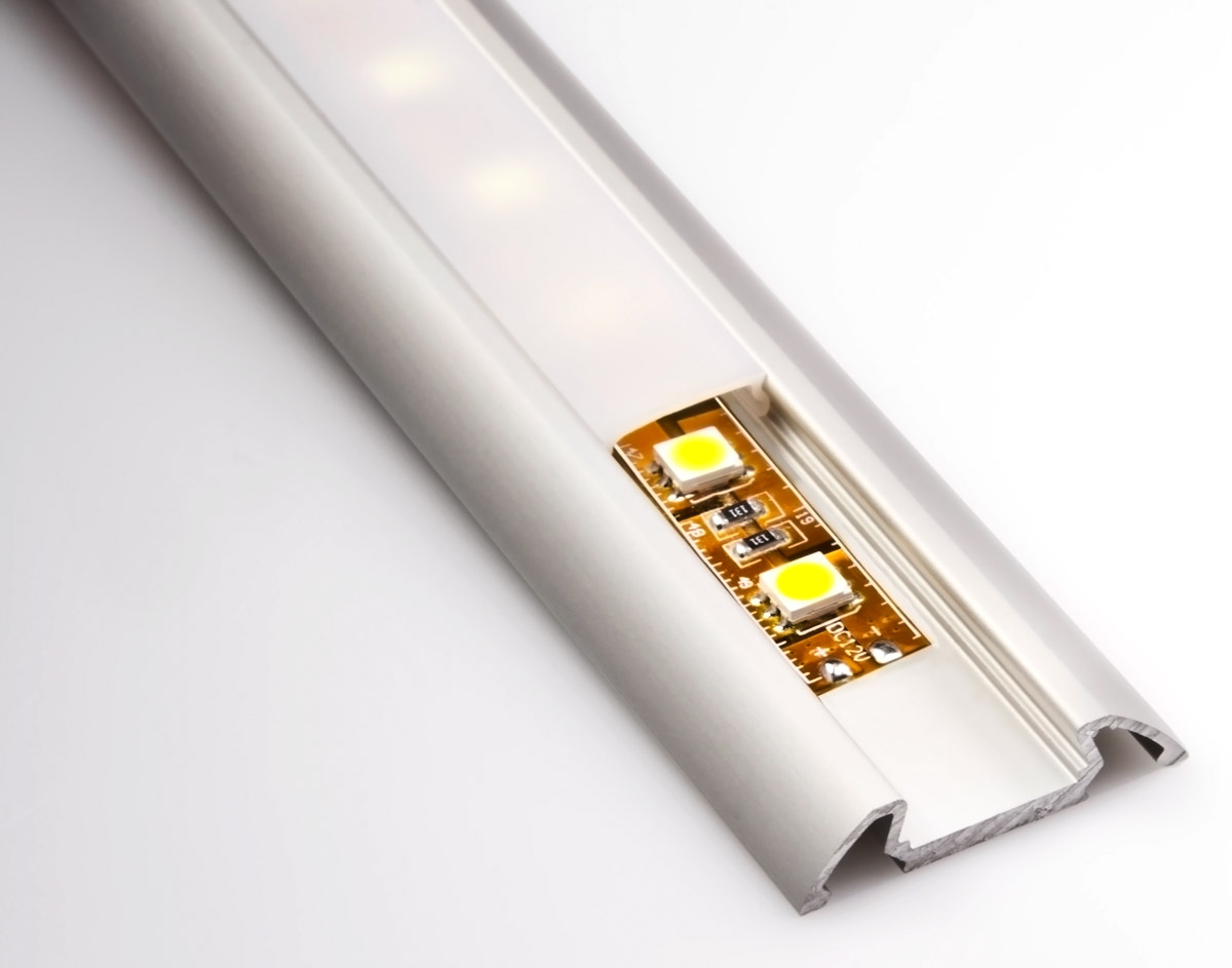 Strip Led Angled Surface Mount Aluminum Profile Housing For Led Strip Lights Klus Stos Alu Series