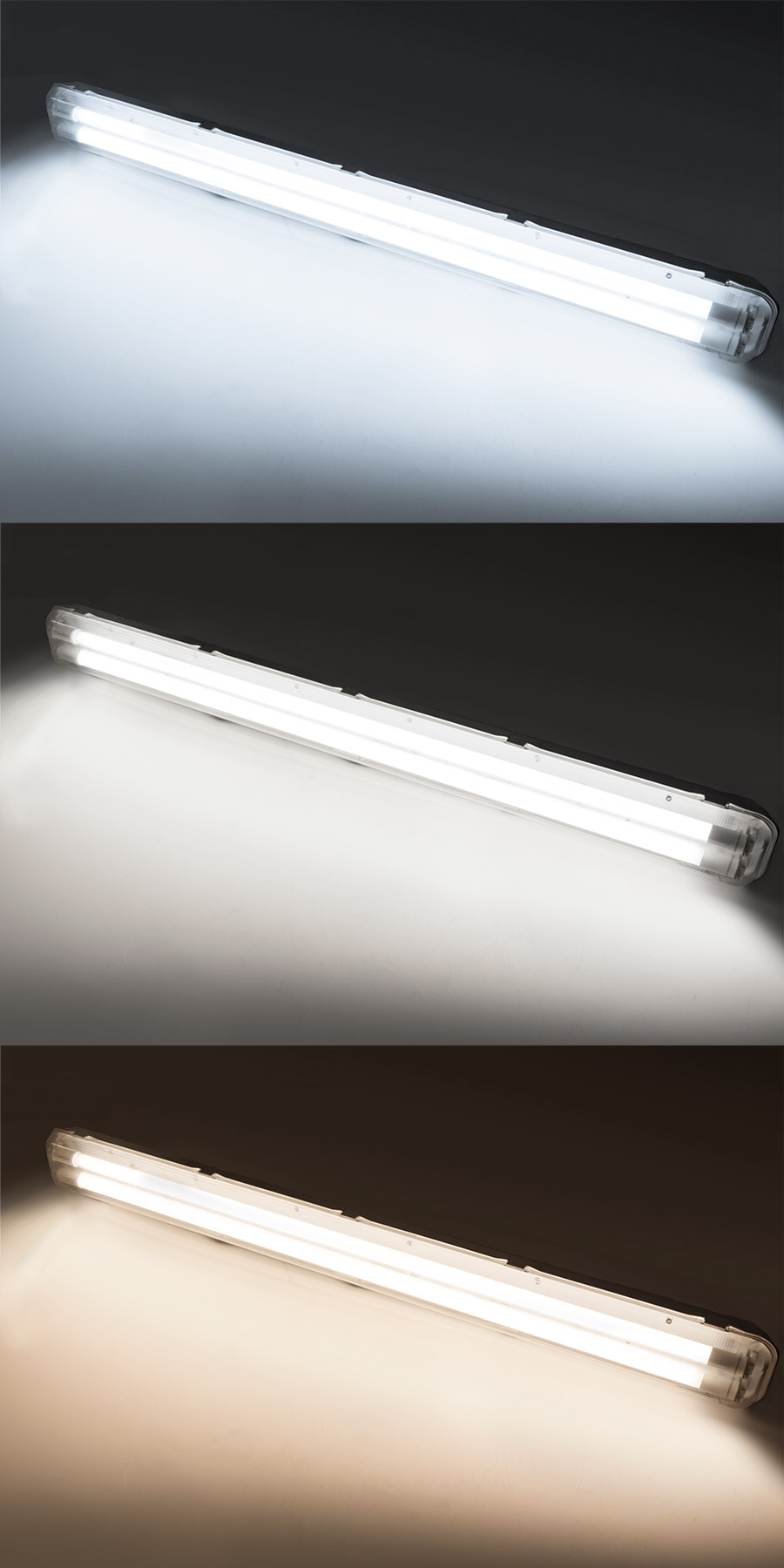 Led T8 T8 Vapor Tight Led Light Fixture For 2 Led T8 Tubes Industrial Led Light 4 Long