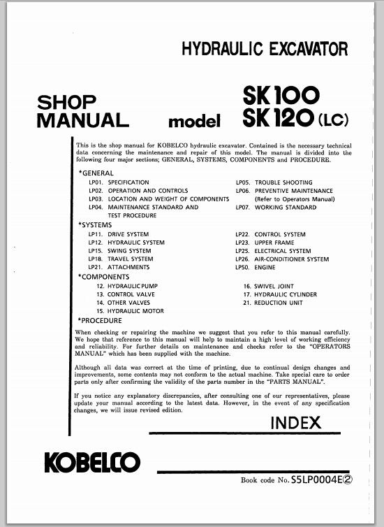 Kobelco Sk 120lc Wiring Diagrams - Wiring Diagram Update