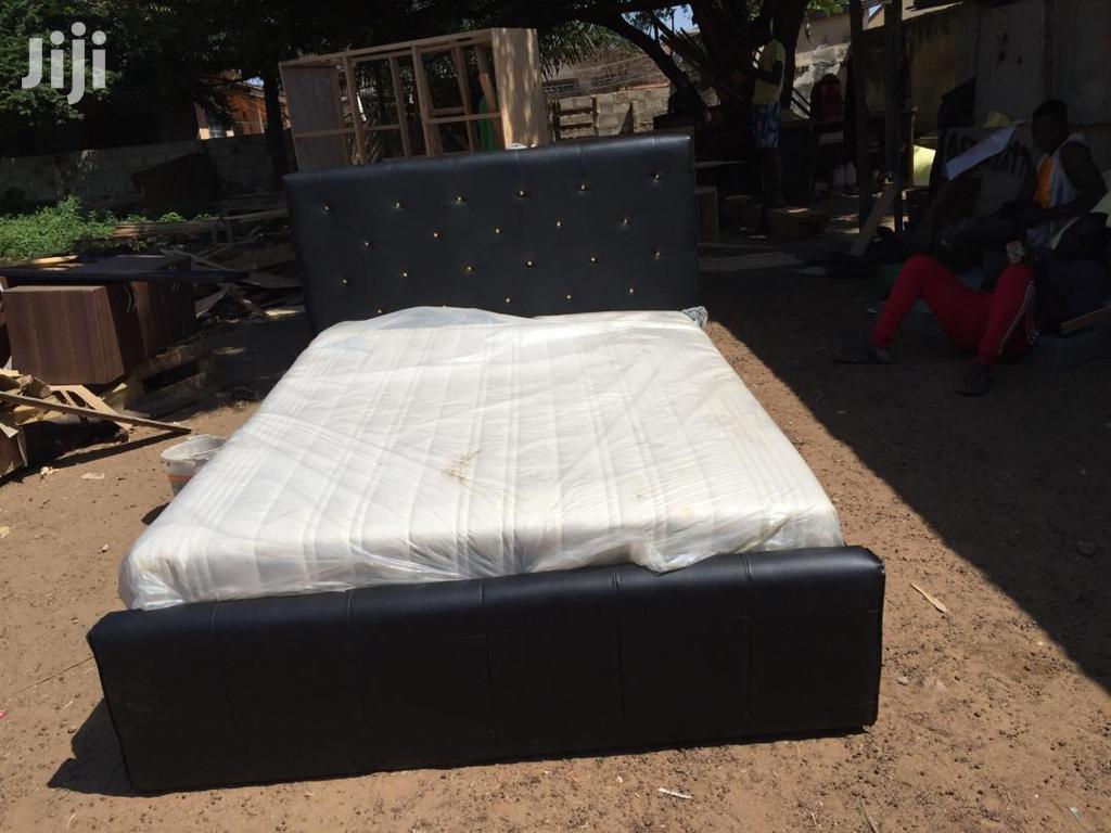 Newly Made Double Bed With Mattress In Accra New Town Furniture Verah Fiagbenu Jiji Com Gh