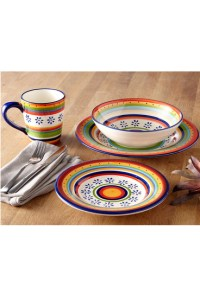 CASA DOMANI Ipanema 16 Piece Dinner Set Gift Boxed ...
