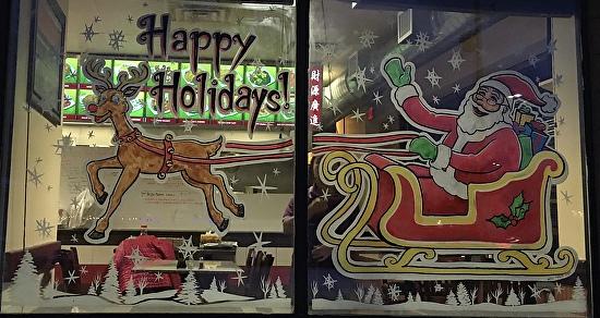 Melani Pyke - Work Zoom Happy Holidays Santa and Rudolph custom