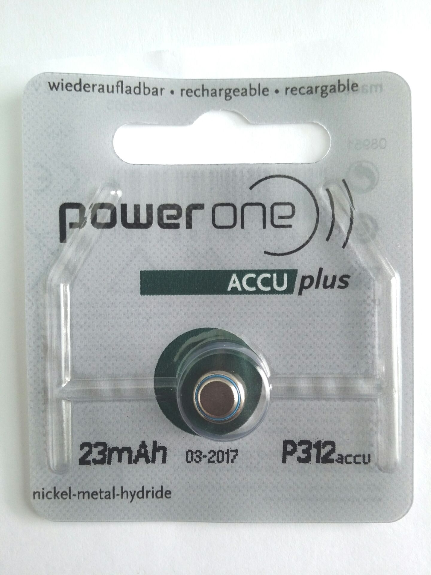Accu Batterien Power One Accu Plus Rechargeable Battery