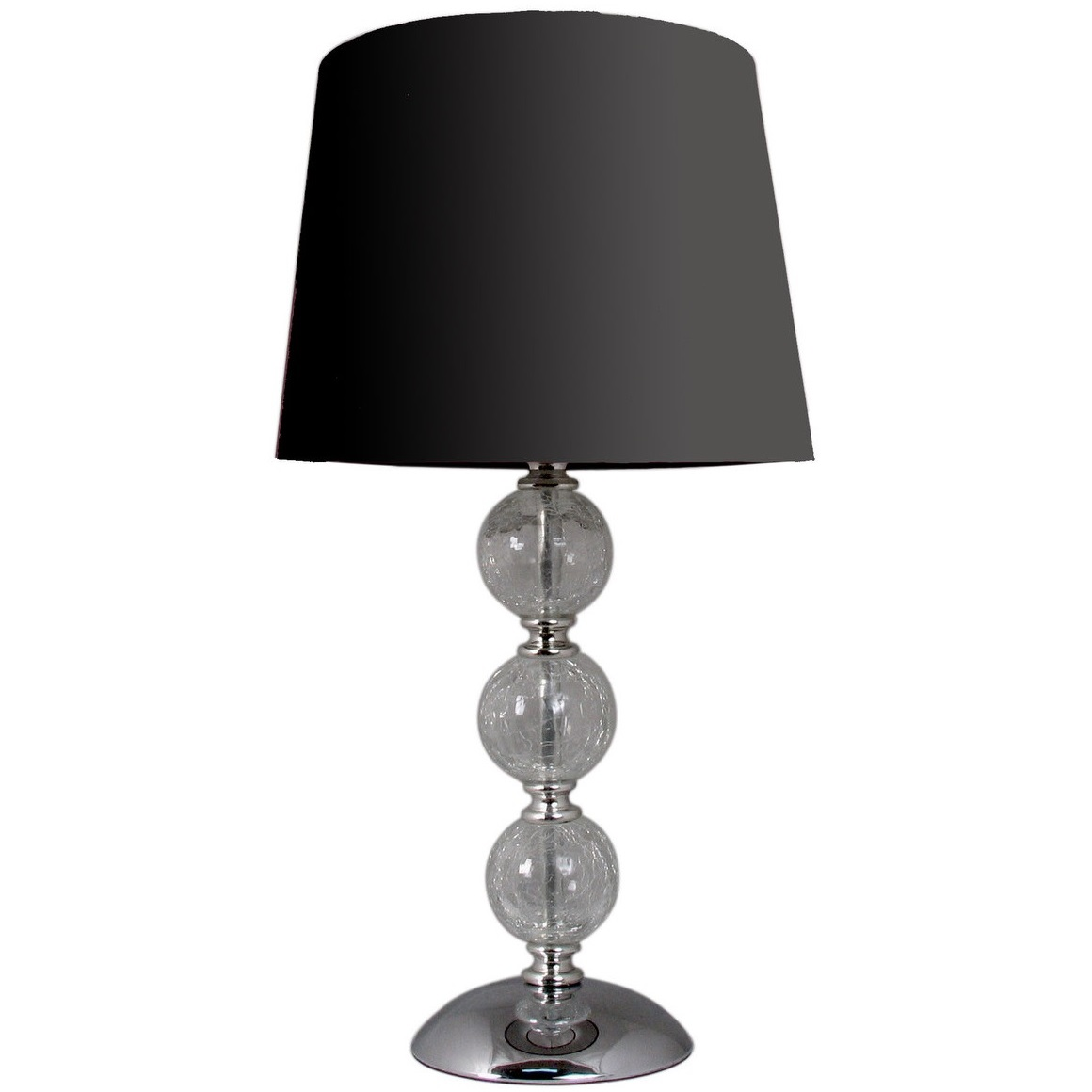 Glass Crackle Lamp Crackle Glass Ball Table Lamp Black