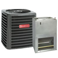 2 Ton 14 SEER Central Air Conditioner System Goodman GSX14 ...