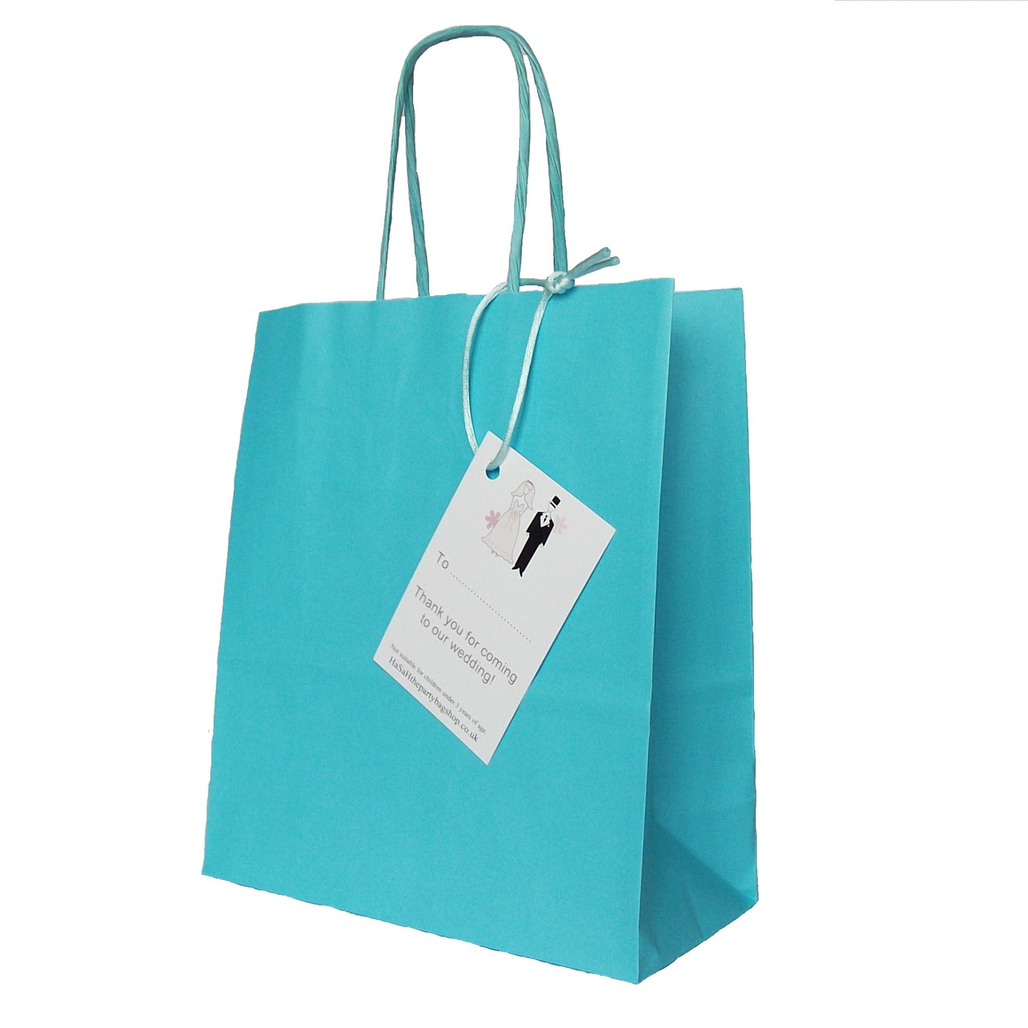 Paper Gift Bags Wedding Paper Favour Gift Bag With Thank You For Coming Tag
