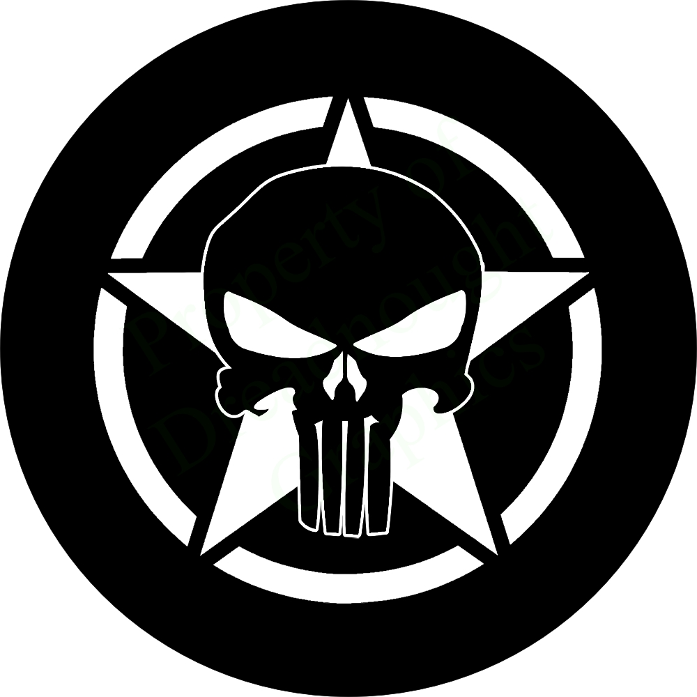 Hazard Wallpaper Hd Punisher Skull On Jeep Star Spare Tire Cover