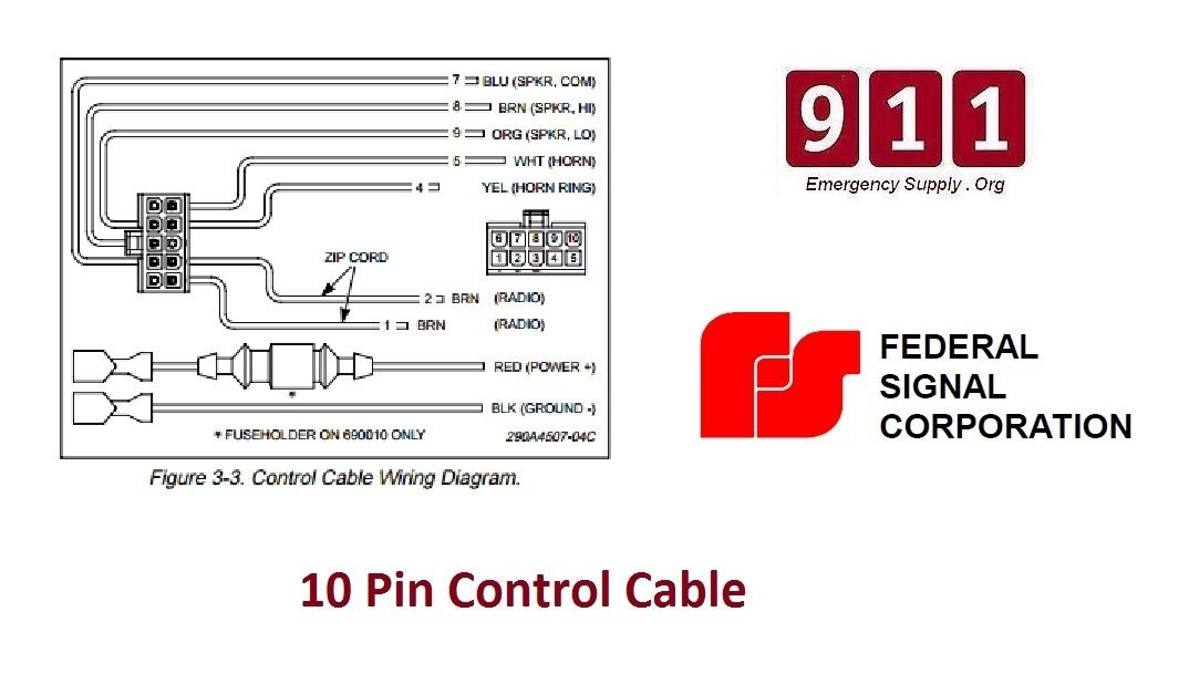 Details About Federal Signal Pa 300 Oem Wiring Harnessmanual