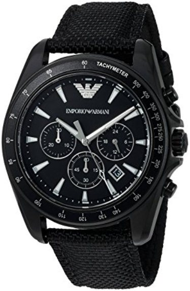 Wewood Watch Emporio Armani Ar6131 Sigma Black Dial Chronograph Men's Watch