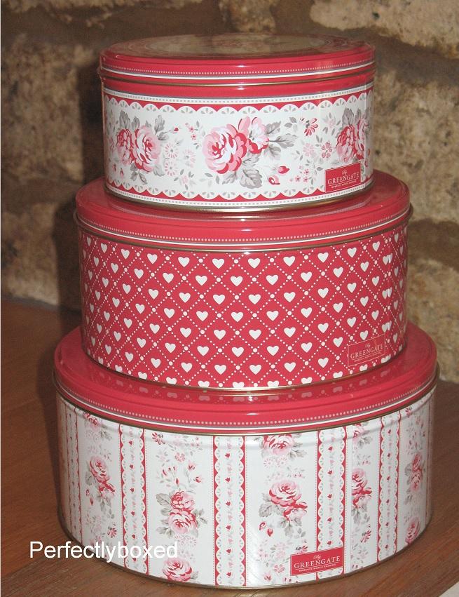 Red Vintage Cake Tins Wwwperfectlyboxedcom